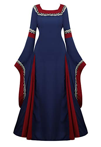 Womens Irish Medieval Dress Renaissance Costume Retro Gown