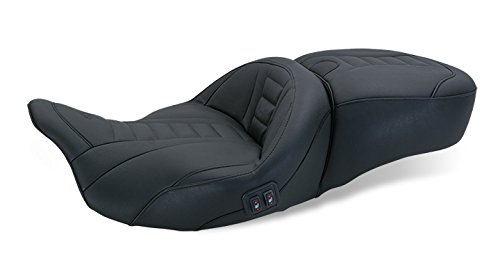 Mustang 08-16 Harley FLHX2 Heated 1-Piece Deluxe Touring Seat (Plain)