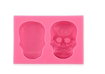 Hosaire 1 Pcs Skull DIY Baking Fondant Tools Silicone Mold Handmade Soap Chocolate Baking Mold Tool