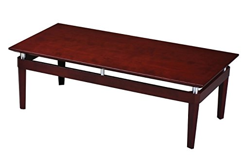 Mayline NTRCRY Napoli Rectangle Coffee Table with Metal Accents 48
