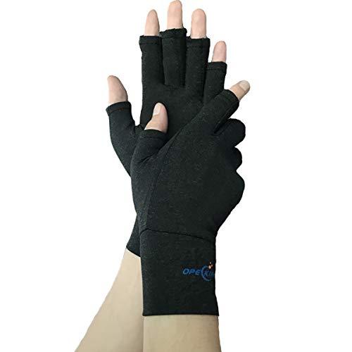 Compression Gloves for Arthritis, Hand Brace Fingerless, Raynaud Gloves Men, Breathable Hand Warm Gloves Relieve Rheumatoid, Raynauds Disease & Carpal Tunnel