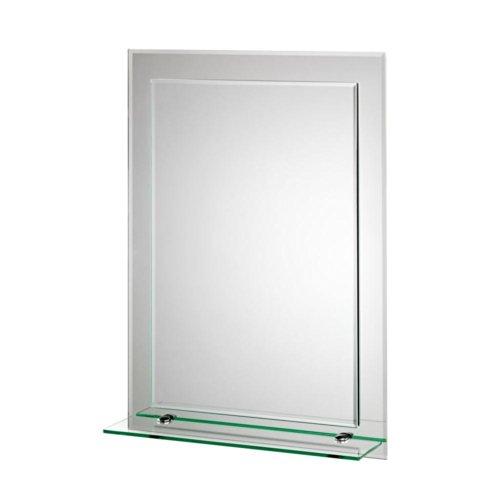 Bathroom Mirror With Shelves Amazoncom - Bathroom mirror with shelf