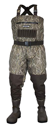 COMPASS 360 Deadfall Camo Breathable 1600 Gram bootfoot Chest Hunting Wader (10, Mossy Oak Bottomland)