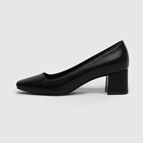 solo hembra Tacón Donyyyy boca de seven Thirty tacón femenino zapatos de superficial áspero la Zapatos en y wSBq6BI