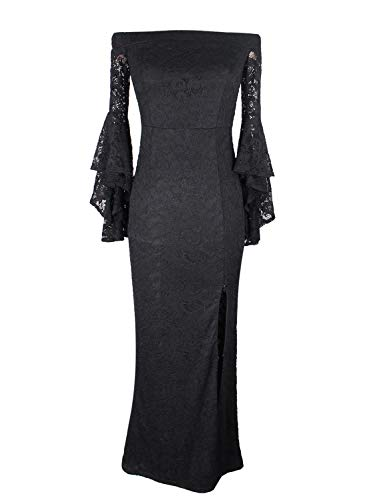 3014703ce6c VFSHOW Womens Off Shoulder Bell Sleeve High Slit Formal Evening Party Maxi  Dress