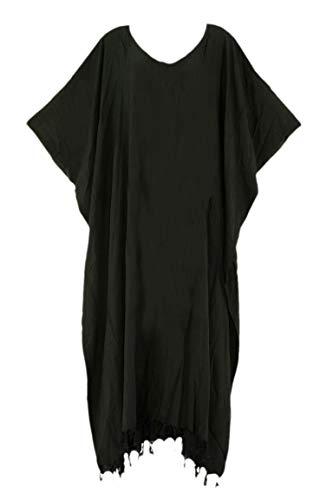 Beautybatik Black Caftan Kaftan Loungewear Maxi Long Dress 2X