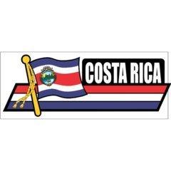 Costa Rica Flag Car Sidekick Trunk Bumper Fender Window Decals - Costa Sale