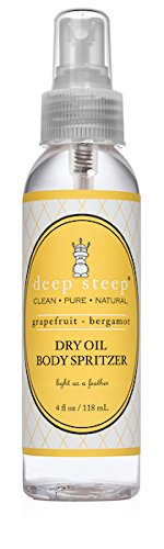 Deep Steep Dry Oil Body Spritzer, Grapefruit Bergamot, 4 Ounce