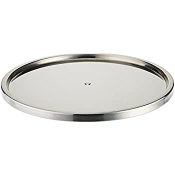 Merveilleux Dial Industries Lazy Susan Stainless Steel Turntable Organizer, Single Tier