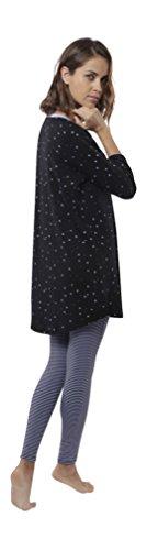 """jijamas Soft Pima Cotton Women's Pajama Set """"The Day Dream Tunic"""" in Black - Pima Cotton Pajamas"""