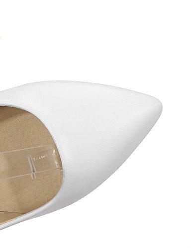 GGX/ Damen-High Heels-Büro / Lässig / Kleid-Vlies-Blockabsatz-Absätze / Komfort / Spitzschuh-Schwarz / Rosa / Weiß white-us9 / eu40 / uk7 / cn41
