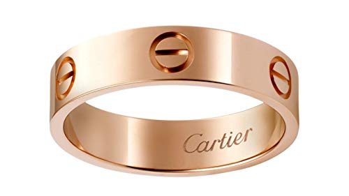 Women Cartier Style Love 14k Yellow Gold/White Gold/Rose Gold Eternity Wedding Engagement Ring Band Jewelry All US Size Available (14k Rose Gold)
