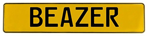 Vintage Parts 602477 Yellow Stamped Aluminum Street Sign Mancave Wall Art  Beazer   1 Pack