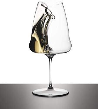 Riedel Winewings Riesling - Copa de vino, diseño transparente