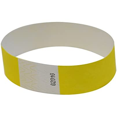 500 Pantone Yellow Tyvek Wristbands Estimated Price £47.55 -