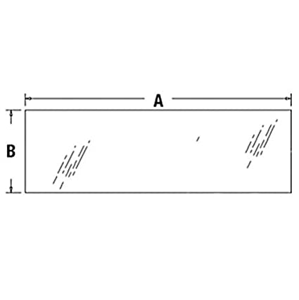 Amazon com : All States Ag Parts Cab Glass - Rear Lower