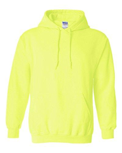 Gildan Heavyweight DryBlend Adult Unisex Hooded Sweatshirt Top / Hoodie (13 Colours) (XL) (New Safety - Adult Heavyweight Sweatshirt Hooded