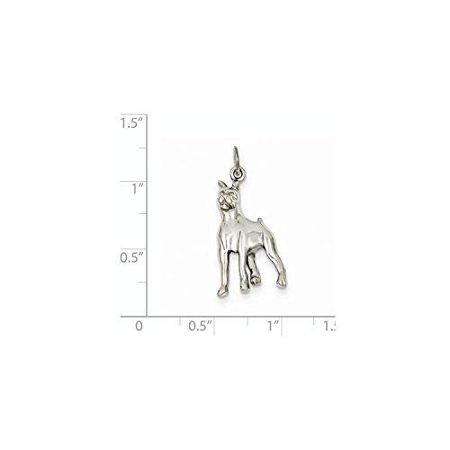 14K White Gold Boxer Dog Charm (White Gold Boxer Dog)