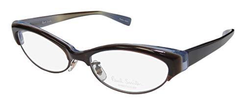 Paul Smith 412 For Ladies/Women Cat Eye Full-Rim Shape Modern Eyes Eyeglasses/Eye Glasses (50-16-135, Brown/Blue) (Blue Cat Eye Brille)
