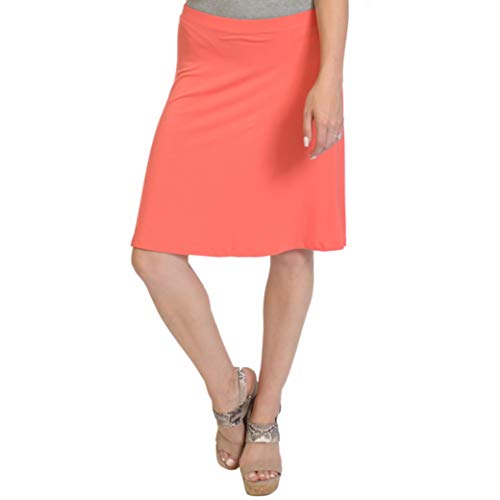 - Stretch is Comfort Women's A-Line Skirt Coral Medium
