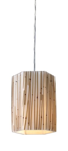 Elk 19061/1 Modern Organics-1-Light Pendant In Bamboo Stem Material In Polished (Bamboo Stem Material)