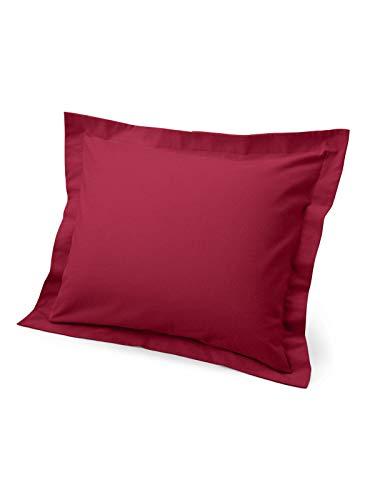 (Eddie Bauer Unisex-Adult Flannel Pillow Sham - Solid, Claret King King )