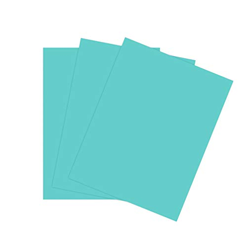 "Cardstock Paper for Arts Crafts and Scrapbooking by The Stamps of Life - Ocean Blue 8.5"" x 11"" 24 Sheets"