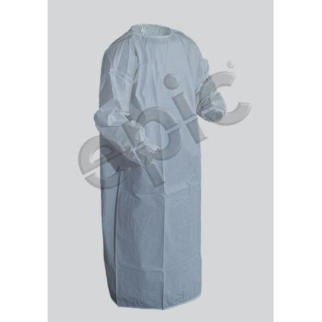 Microporous Coated Iso Gown with Thumb Strap, White, Large, case/30