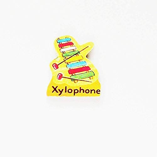 - 1950s Xylophone Brooch - Pin / ME2Designs Upcycled Vintage Wood Jewelry