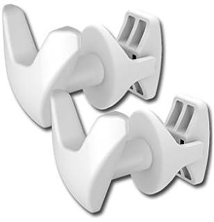 Linea Handy - Juego de 2 ganchos para toallas, sin necesidad de hacer agujeros en