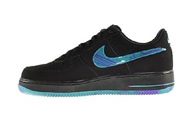 online store 7e8b1 e1e9f Amazon.com   Nike Air Force 1 Men s Shoes Black Turbo Green-Purple Venom  488298-047 (13 D(M) US)   Fashion Sneakers
