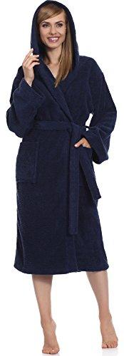 Ladeheid Albornoz para Mujer 100% Algodón LA40-102 Azul Oscuro (D12)