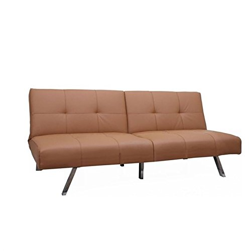 Gold sparrow jacksonville white foldable futon sofa bed for Beeson fabric queen sleeper chaise sofa