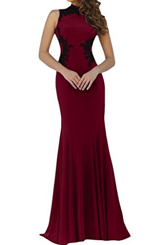 Ivydressing Promkleid Abendkleid Applikation Spitze Hochwertig Weinrot Damen Mermaid Partykleid Stehkragen Aw7ARq