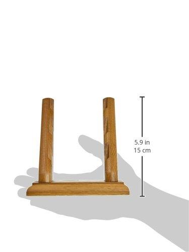 Wooden Mallet 3-Pocket Countertop Business Card Holder, Medium Oak