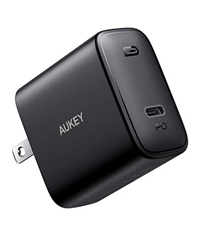 AUKEY Swift iPhone Fast Charger, 30W USB C Charger for iPhone 12/12 Mini/12 Pro Max, USB C Wall Charger with Foldable Plug, PD Charger Fast Charger for, MacBook Air, iPad Pro 2020, AirPods Pro, Switch