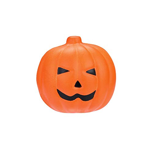 callm Soft Stress Reliever Toys,Squishy Halloween Pumpkin Slow Rising Squeeze Squishies Toys Cure Fun Gifts Decor for Kids Adults (A)