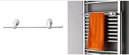 Mittelanschlussgarnitur Wei/ß:Ohne Mittelanschlussgarnitur R18W Gr/ö/ße:1700x600mm Badheizk/örper Handtuchw/ärmer Wei/ß gerade Handtuchhalter:Ohne Handtuchhalter