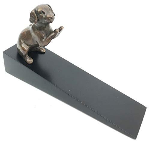 - Brass Made Adorable Begging Labrador Retriever Dog Door Stop Stopper Wedge Figurine #EB06