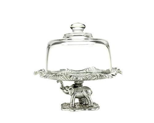 - Arthur Court Elephant Footed 8-Inch Plate with Glass Dome