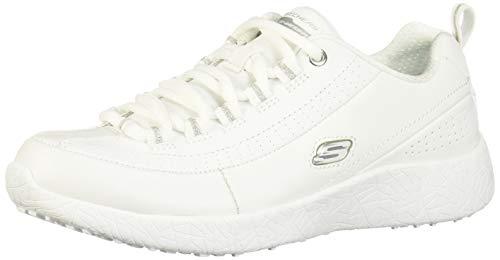 SKECHERS 12782 Tenis de Deporte para Mujer, Blanco, 25