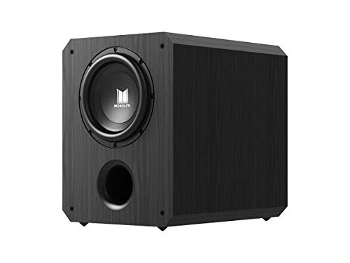 Monolith 10 Inch Powered Subwoofer - Black   THX Select Certified, 500 Watt Amplifier, 10 Inch Driver for Studio & Home Theater
