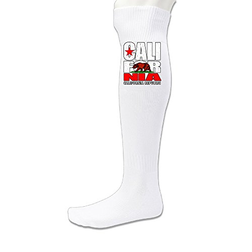 lic Vintage Text Asst Bear Flag Soccer Socks White ()