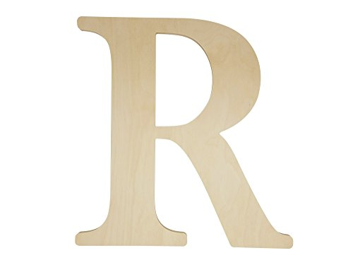 Unfinished Wooden Letter for Wedding Guestbook or Wall