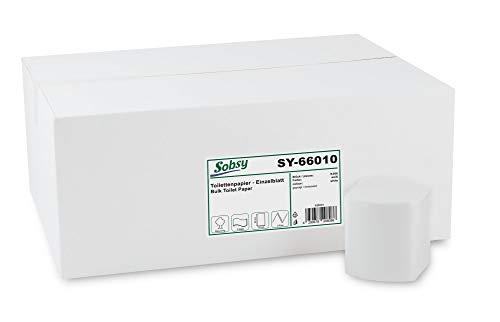 Toiletpapier enkel blad SY-66010, 2-lg, Rec. Wit