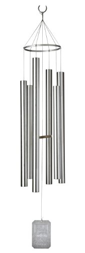 Grace Note Chimes 3L 54-Inch Himalayan Echo Wind Chimes, Large, Silver