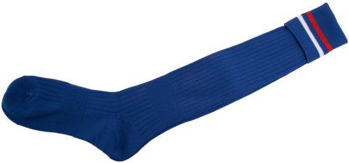 花婿マニュアル小学生ZETT(ゼット) サッカーソックス(トリコ2本ライン) ZFS3000 ブルー×レッド×ホワイト
