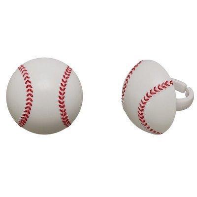 3d Picks Cupcake - 3D Baseball Cupcake Rings - 24 pc