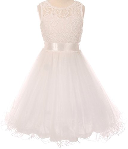 Ivory Embroidered Tulle - 5