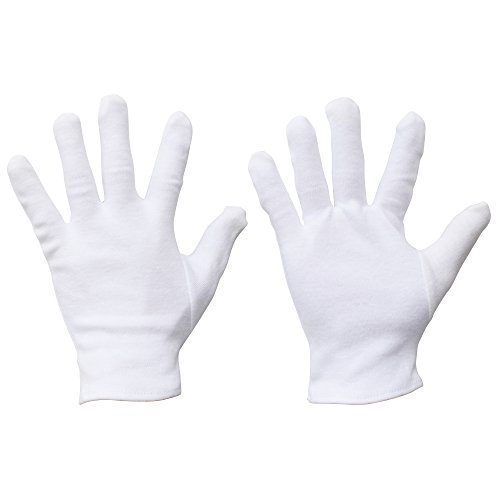 White Gloves For Luigi Costumes - Meta-U Wholesale White Soft 100% Cotton